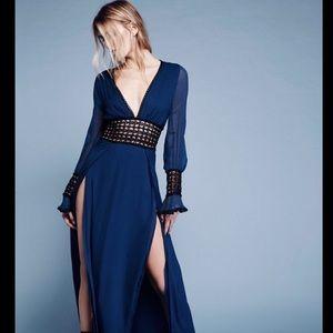 For Love & Lemons  Macrame Lace Chiffon Dress S